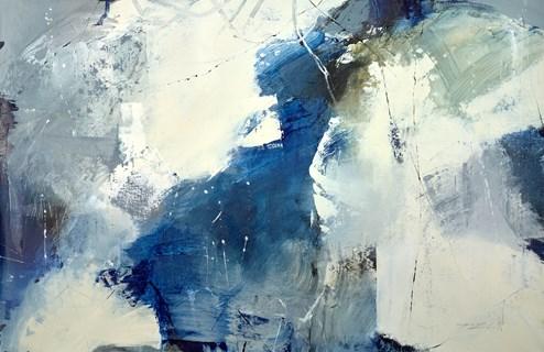 Blown Away by Natasha Barnes - Original Painting on Box Canvas